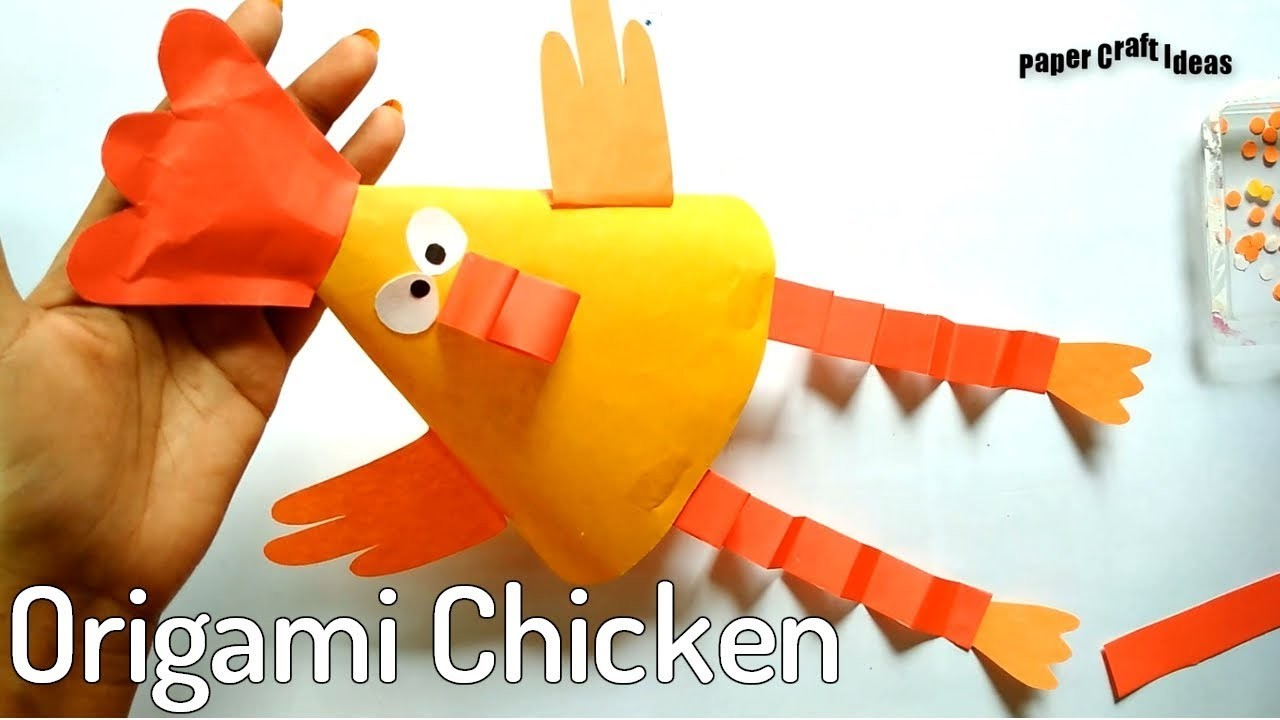 how to make paper chicken