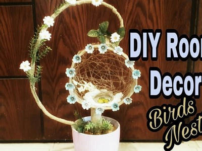 DIY: Room Decor idea: Birds Nest how to make: