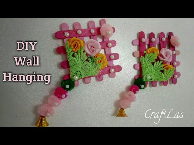 Diy Wall Hanging With Icecream Sticks Best Out Of Waste How To