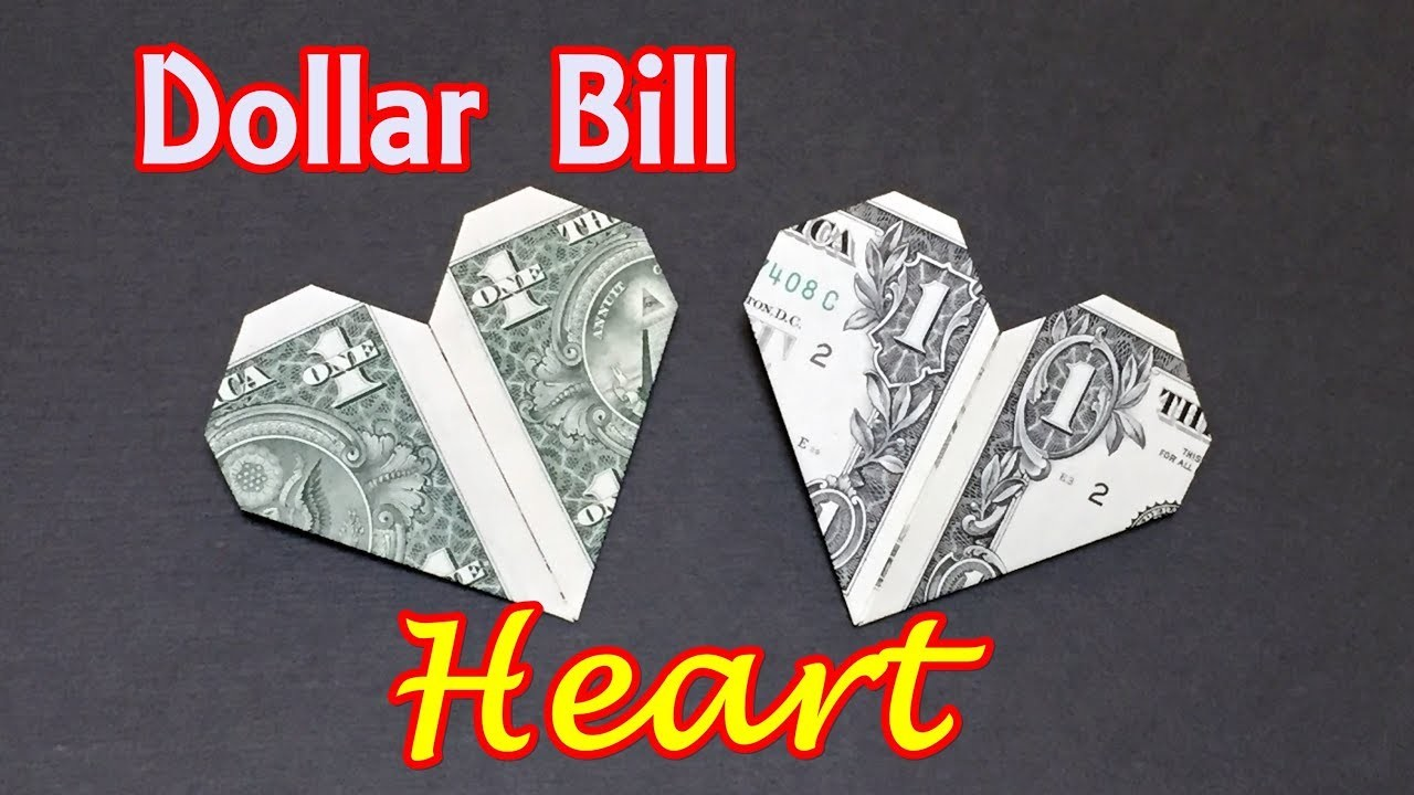 Origami dollar bill origami heart how to fold heart out of money origami dollar bill origami heart how to fold heart out of money origami easy for beginners jeuxipadfo Images