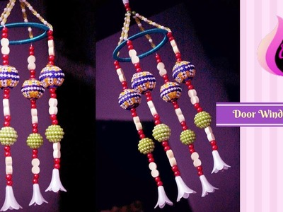 Door wind chime - How to make beaded wind chimes - Handmade wind chimes with bangles