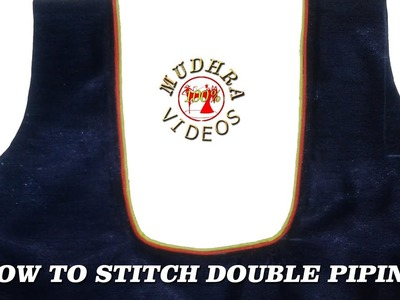 Double Piping Neckline # How To Cut And Stitch Designer Neck Line With Double Piping # DIY # Part105
