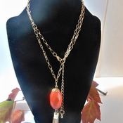 Faceted Orange Necklace