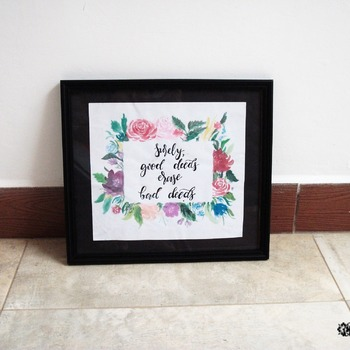 floral painted frame