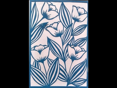 Flower design how to make flower by paper cutting by knife pen