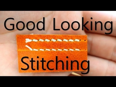 Good Looking Stitching PART 2 : How to Use Pricking Iron