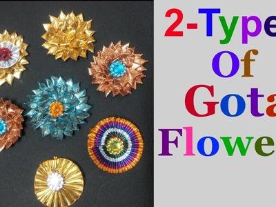 Gota flowers making tutorial | How To Make Basic Gota Flower For Bridal Jewellery