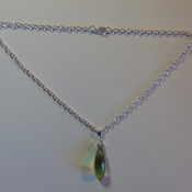 Green Faceted Oblong Pendant