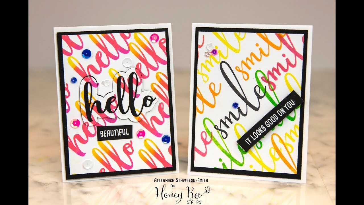 Handmade Cardmaking Tutorial: Misti Creative Corners how to, Rainbow stamping and Ombre Backgrounds