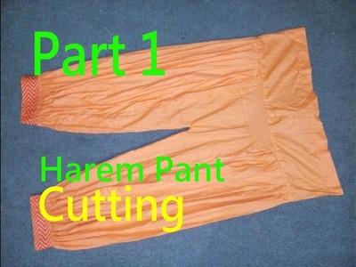 Harem Pant(Salwar) | How to make Harem Pant? | Afghani Salwar | Aladdin Pant(Salwar)|Cutting| Part 1