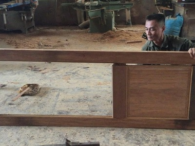 How To Build A Door Extremely Fast Simple - Amazing Woodworking Technology