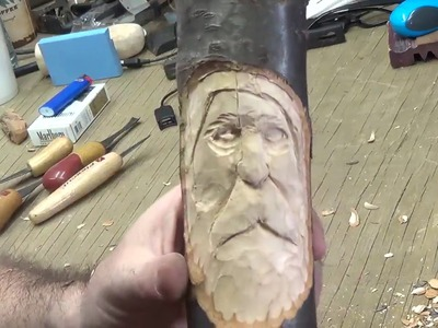 How to Carve a Wood Spirit With Hand Tools Part 4