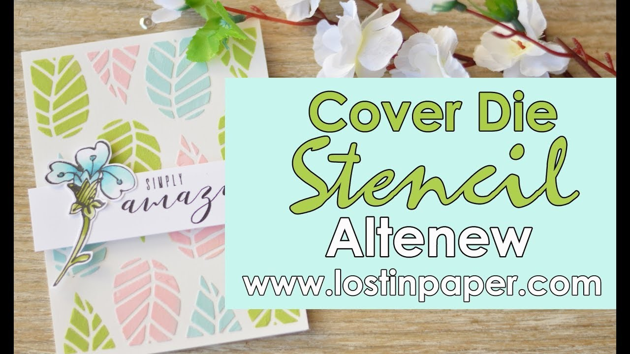 How to Create a Cover Die Stencil - Altenew August 2017 Release Hop!