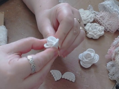 How To Create Flowers With Laces & Trims KS4U DT & Project Share!