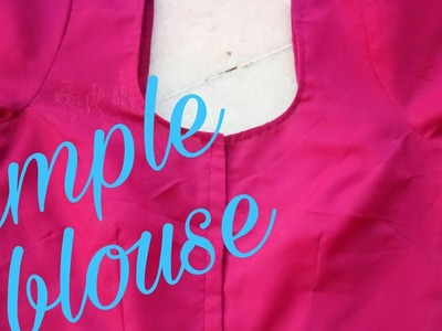 How to cutting and stiching a simple blouse