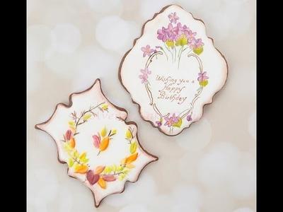 How to Decorate Dimensional Vintage Birthday Cookies ????????????