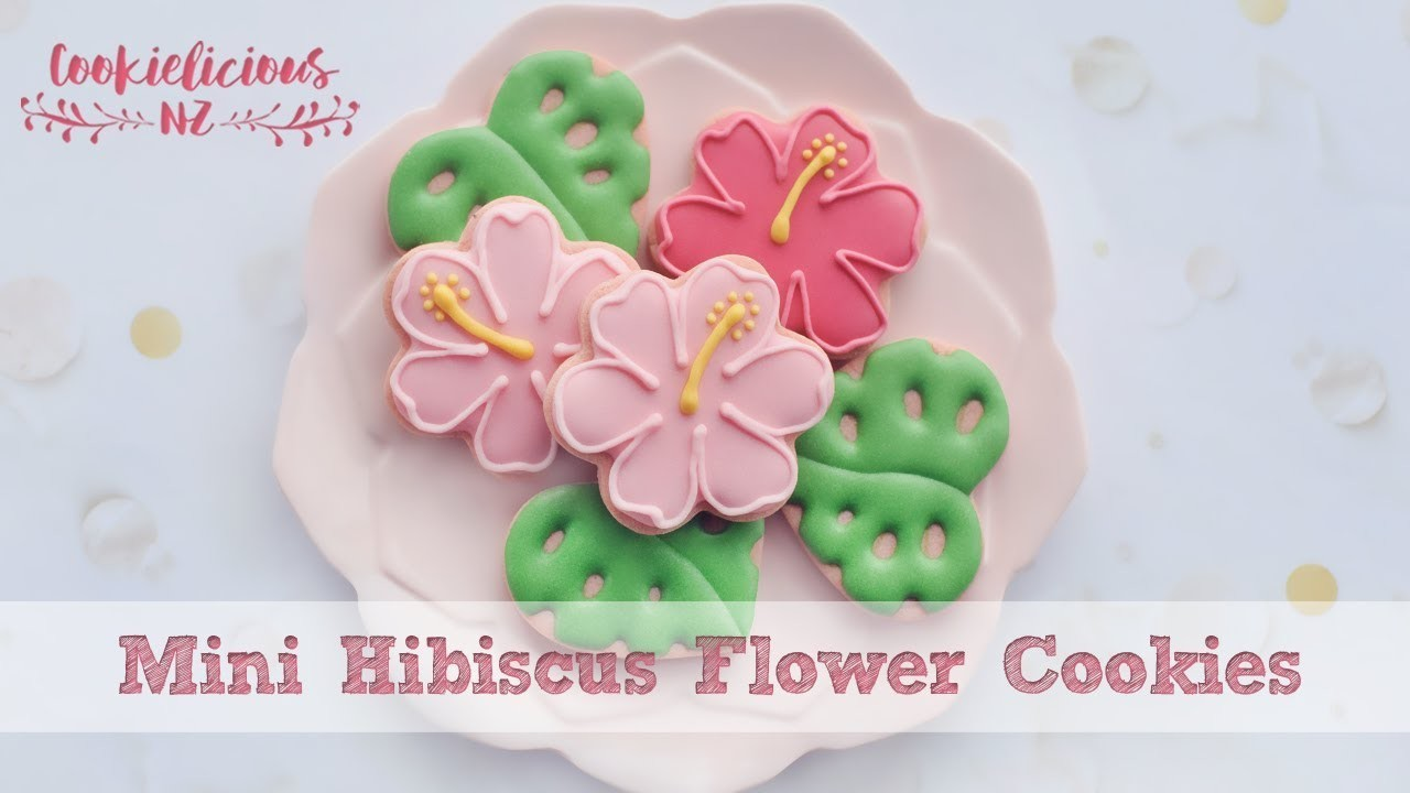 How to decorate simple hibiscus flower cookies