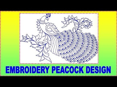 How to Draw Peacock with Beautiful Feather Design | Colour Pen Art