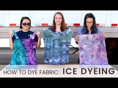How to Dye Fabric: Ice Dyeing