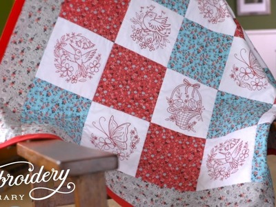 How to Embroider and Sew a Lap Quilt