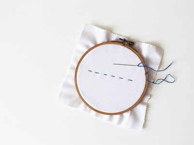 How To Embroidery Running Stitch