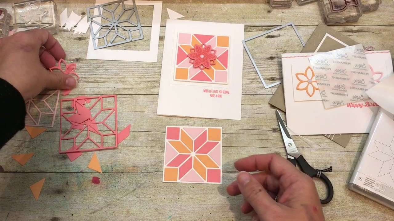 How to make 3 Quilt Cards using Stampin Up's NEW Christmas Quilt Bundle