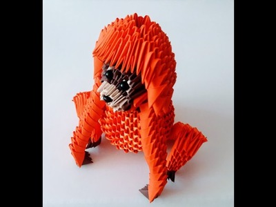 How to make 3D Origami Orangutan