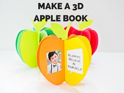 How to Make a 3D Paper Apple Book