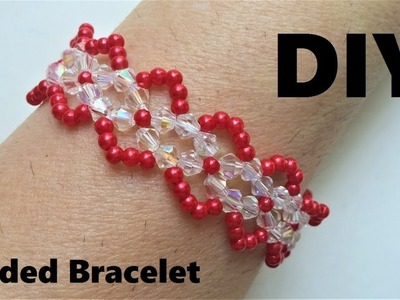 How to make a beautiful bracelet in less than 1 hour. Beading project