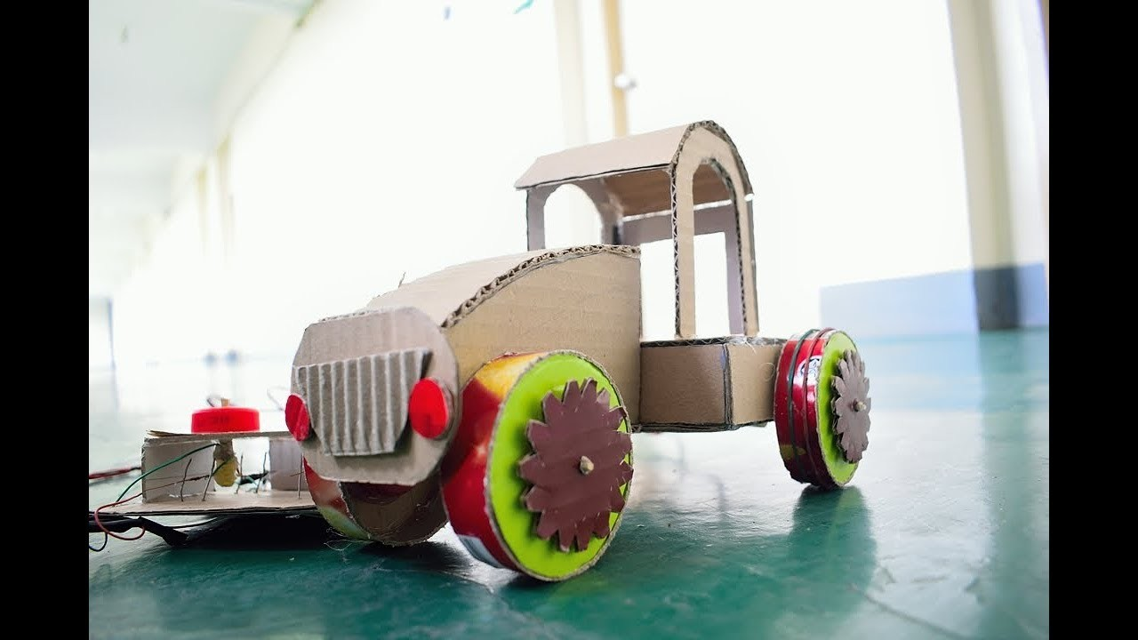 how to make toy car using recycled materials