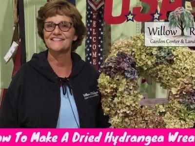 How To Make A Dried Hydrangea Wreath