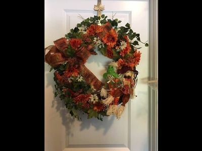 How to make a fall grapevine wreath for your door