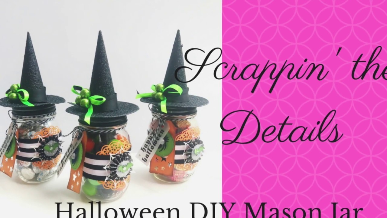 How to Make a Halloween Candy Treat Jar -With Tutorial