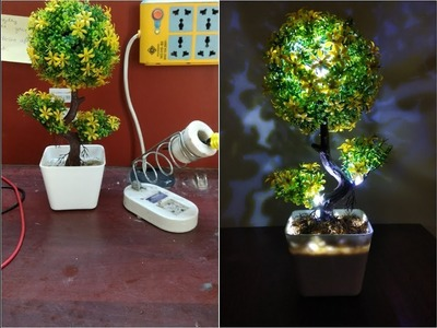 How to make a led flower pot lamp