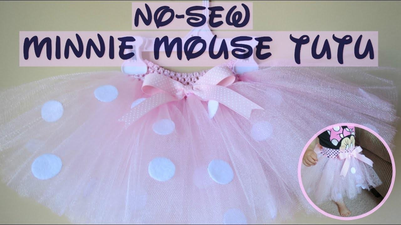 How To Make A Minnie Mouse No-Sew Tutu Skirt|Adorable and Simple DIY Tutu