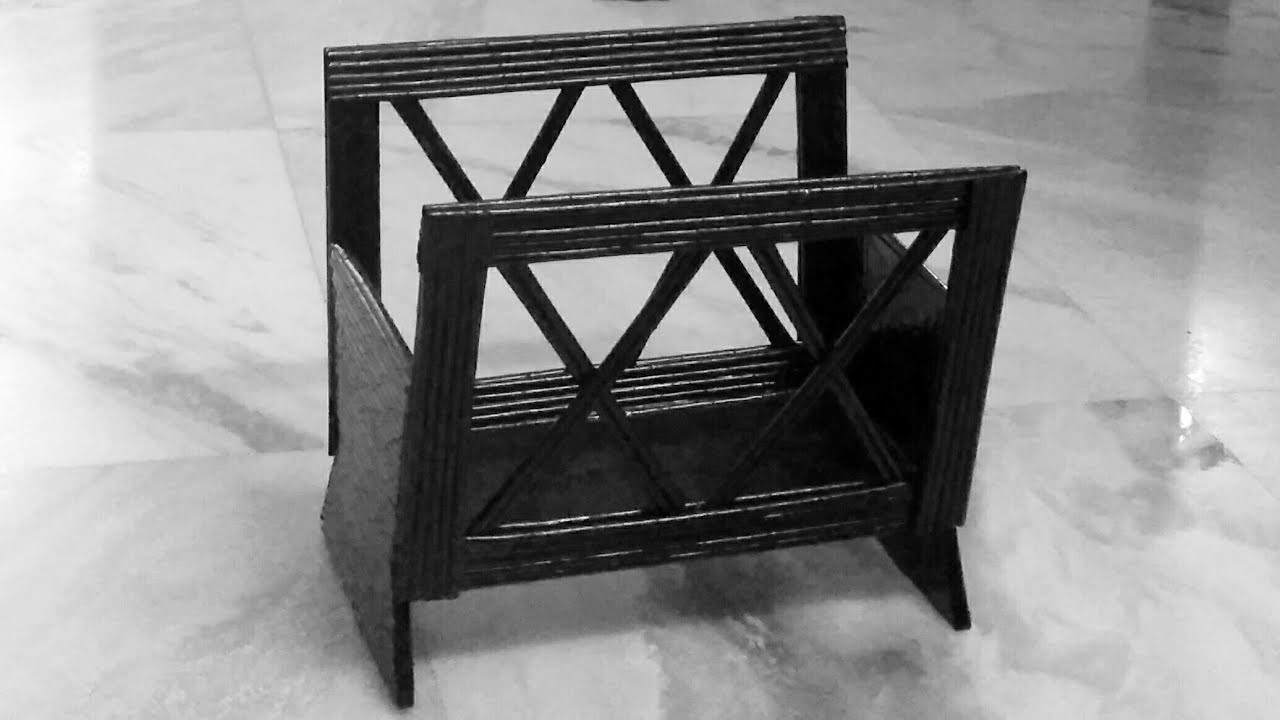 How to make a Newspaper Rack. Basket. Magazine Holder