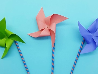 How To Make A Paper Windmill Pinwheel That Spins