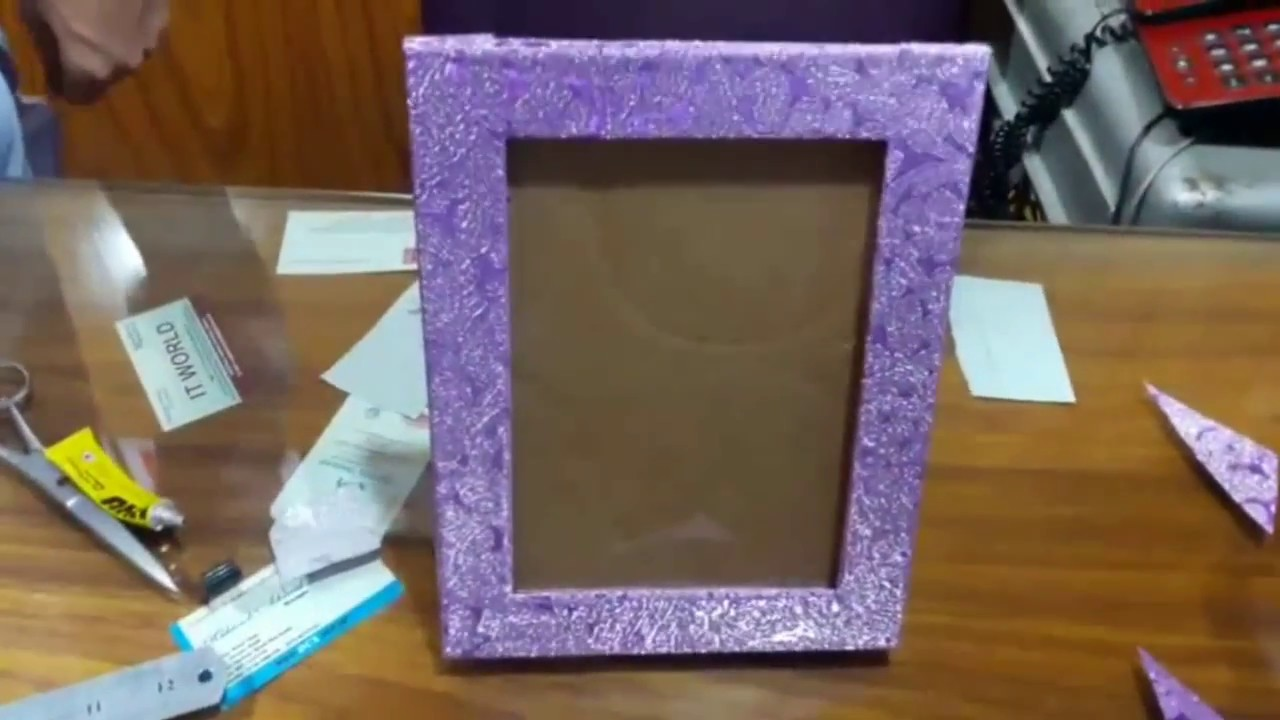 How to make a photo frame using recycle material