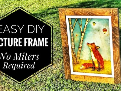 How to Make a Picture Frame | No Miters Required | Unique Construction Method |