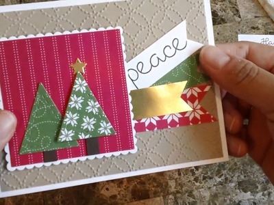 How to make a quick and easy Christmas card using the Quilted Christmas suite