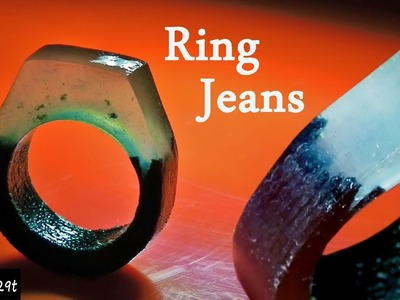 How to make a RING with JEANS and RESIN