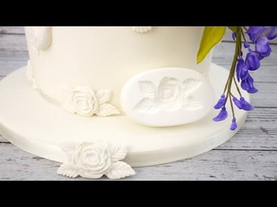 How To Make A Sugar Rose Cake Decoration Using A Mould