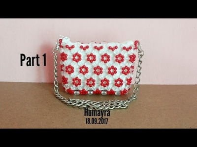 How to make beaded bag. purse. part 1. Easy Technique