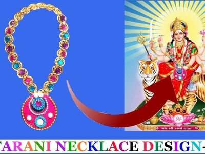How to make beautiful necklace.garland.mala for our Mata rani.durga maa |Necklace.mala for our deity