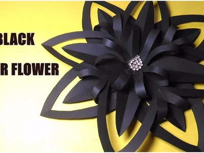 How To Make Black Paper Flower | Origami | For Christmas Decoration | InoVatioNizer | ft. BB
