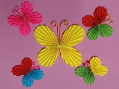How to Make Butterfly with Color Paper | DIY Paper Butterflies Making