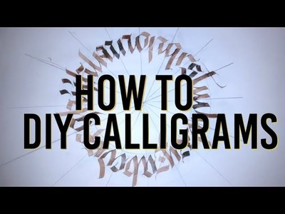 How to make Calligraphy Calligrams - Writing Calligraphy in shapes
