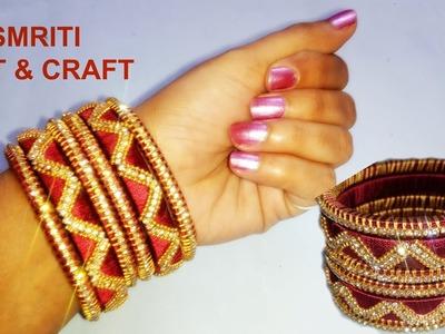 How to make Designer Silk Thread Bangles    Designer Bridal Bangles Set at home
