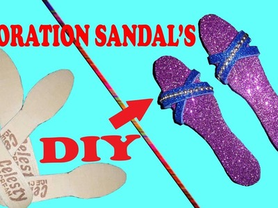 How to make DIY slippers and sandals with ice-cream spoon or wooden spoon.