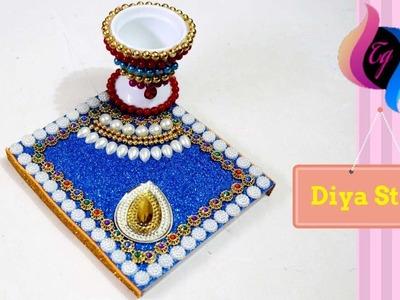 How to make diya stand at home - Diya stand - Diya stand decoration -